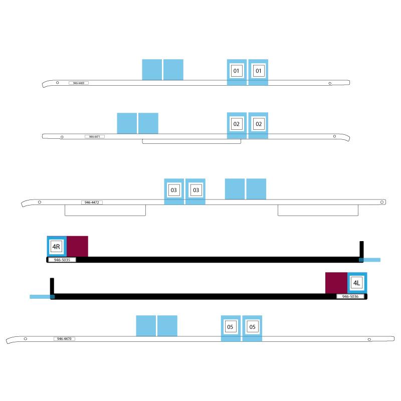 A1418, A2116 iMac Adhesive Strips (21,5 inç)