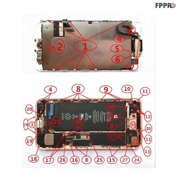 iPhone 7 Screws (Order Numbered)