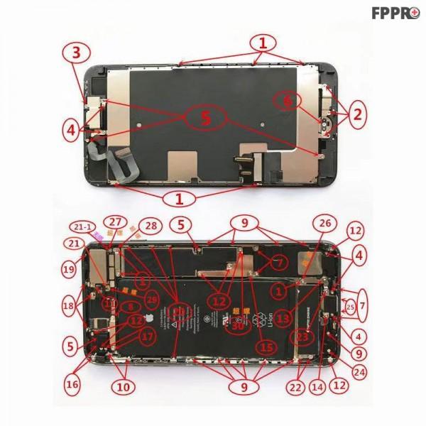 iPhone 8 Plus Screws (Order Numbered)