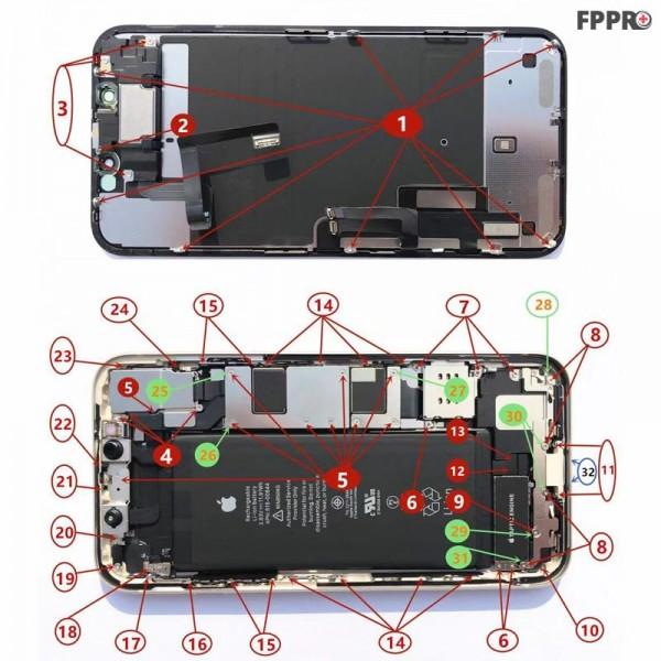 iPhone 11 Screws (Order Numbered)