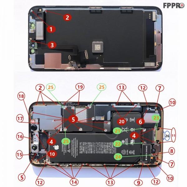 iPhone 11 Pro Screws (Order Numbered)