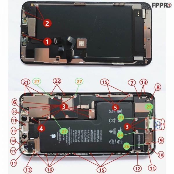 iPhone 11 Pro Max Screws (Order Numbered)