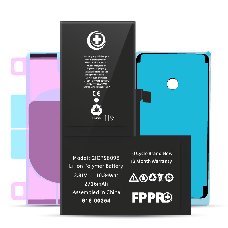 iPhone X Battery | FP Pro - With Adhesive Kit